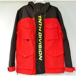 10 Deep NWOT Mens Windbreaker Rain Jacket Fits XL